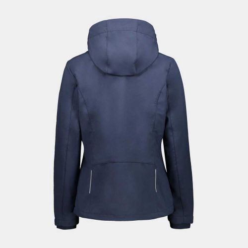 Campagnolo Softshell for Woman With Detachable Hood Dark Blue-Raspberry