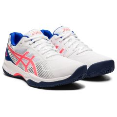 Asics Gel Game 8 Clay/Oc Donna White-Blazing Coral