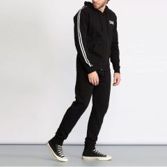 Everlast Basic Suit with Hood and Side Bands for Men in Black