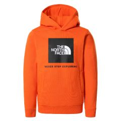 The North Face Y Box P/O Hoodie Red Orange