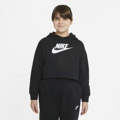 Nike Girl French Terry Cropped Hoodie Nera