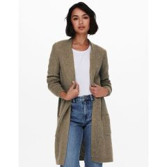 Only Long Knitted Cardigan Verde-Caribou