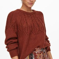 Only Onlolla Neck Pullover Roasted-Russet