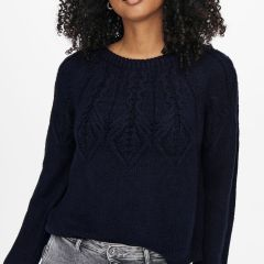 Only Onlolla Neck Pullover Sky-Navy