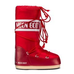 Moon Boot Red Nylon Snow Boots