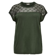 Only Maglia Over Carflake Mix Noos Forest Night
