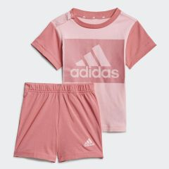 Adidas I Essentials Tee and Shorts Light Pink Rose