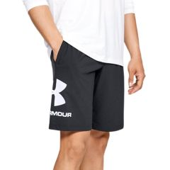 Under Armour Shorts Sportstyle in Cotone Nero