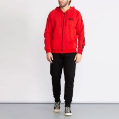 Everlast Basic Suit with Hood and Side Bands for Men Red