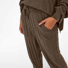 Only Onlnew Pantalone a Maglia Loose Chestnut