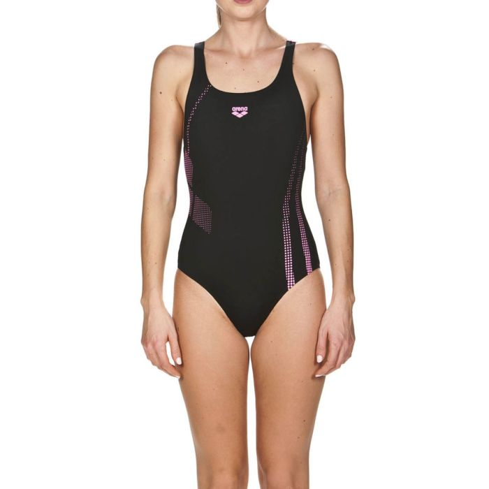 Arena Costume Shadow One Piece Woman Black-Lilac
